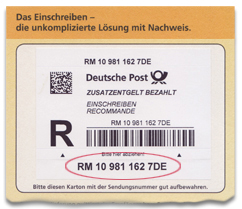 Deutsche Post Sendungsnummer